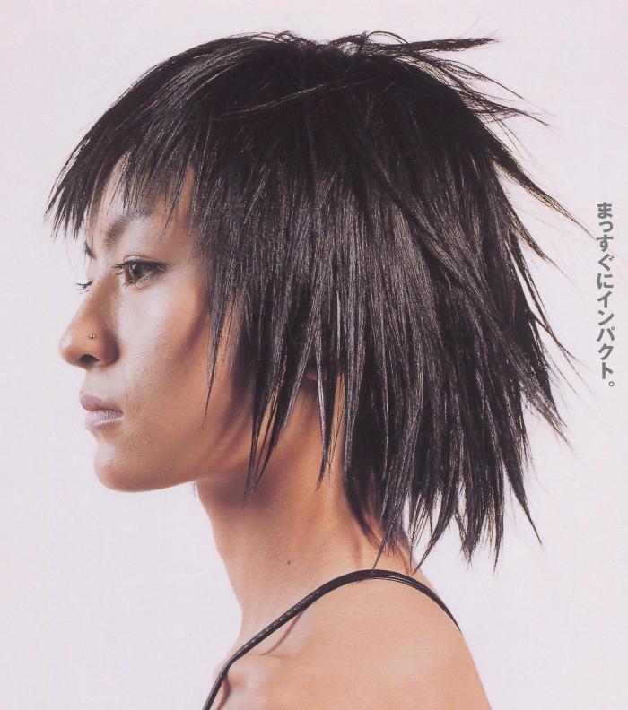 离子烫短发模特儿发型