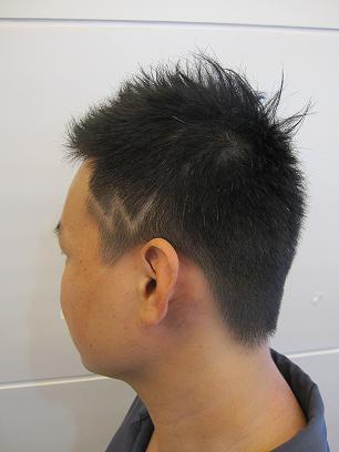 男士发型刻字图片