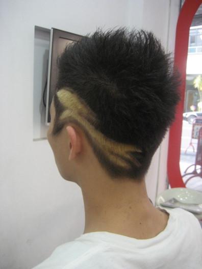 男士头发刻字发型
